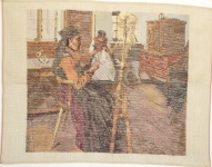 Tramme Tapestry/Needlepoint Kit – Dutch Interior design, part worked in Petit Point.