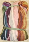 Tramme Tapestry/Needlepoint Kit – Floral Bouquet for Cushion or Stool Top