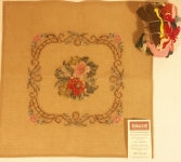 Tramme Tapestry/Needlepoint Kit – Floral Motif with Scroll Border