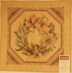 Tramme Tapestry/Needlepoint Kit – Hexagon Bordered Magnolias Cushion