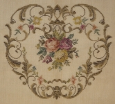 Tramme Tapestry/Needlepoint Kit – Multi-floral design for Chair Seat, Back and Arms