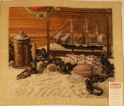 Tramme Tapestry/Needlepoint Kit – Nautical Still Life part worked in HXS & Petit Piont