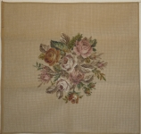 Tramme Tapestry/Needlepoint Kit – Roses Bouquet for Cushion or Picture