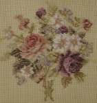 Tramme Tapestry/Needlepoint Kit – Roses design for Cushion or Stool Top