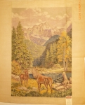 Tramme Tapestry/Needlepoint Kit – Stag & Mountains Wall Hanging/Picture