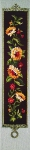 Trammed Tapestry/Needlepoint Kit - Sunflower Garland Bell Pull