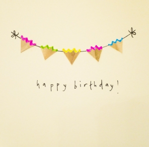 Birthday Bunting - Card