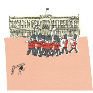 Changing The Guard Art Print
