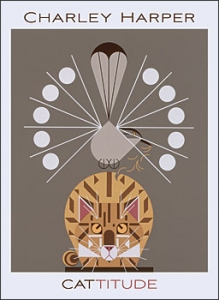 Charley Harper: Catitude Boxed Notecards