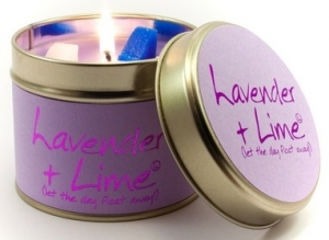 Lavender and Lime Scented Candle