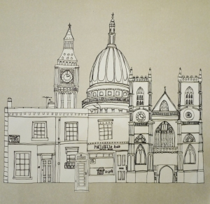London Buildings - Card