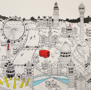 London Icons Greetings Card