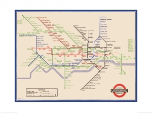 London Underground Map - Henry Beck - Print