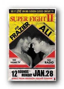 Muhammad Ali v Joe Frazier - Poster