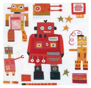 Red Robots Print