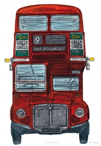 Routemaster London Bus Art Print