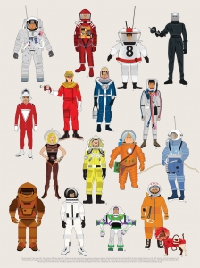 Spacesuits - Illustrated Print