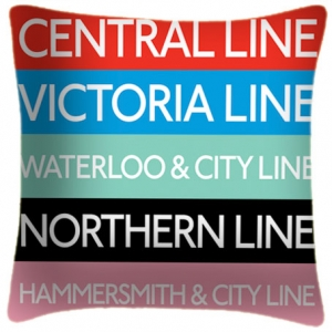 Tube Lines - Cushion