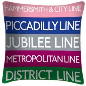 Tube Lines Cushion