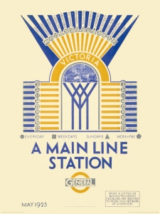 Victoria, A Main Line Station Art Print