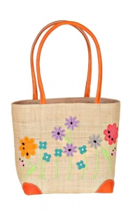 Garden Border Raffia Straw Bag Fair Trade by Madaraff