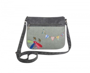 Herringbone Messenger Handbag Bunting Fair Trade by Earth Squared