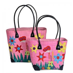 Raffia Straw Bag for Beach Picnic Shopping Spring Garden FairTrade