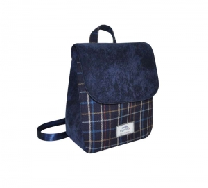Tweed Backpack Fair Trade Handbag by Earth Squared