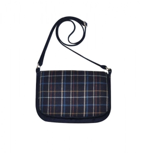 Tweed Saddle Bag Fair Trade Handbag by Earth Squared