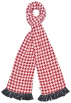 DogTooth Jersey Scarf by Earth Squared Red