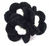 3 flower cluster felt corsage brooch