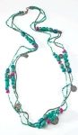 3-strand long Fairtrade necklace with charms