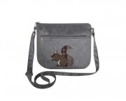 Applique Messenger Handbag Fair Trade by Earth Squared