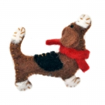 Berties Basset Hound Dog Felt Brooch