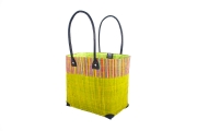 Straw Beach Bag Fairirtrade Bonbon by Ravinala