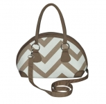 Bowling Fairtrade Chevron Canvas Handbag by Earth Squared Biscuit