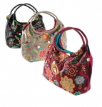 Canvas bag with bird and flower applique by Namaste
