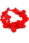 Coconut Shell bracelet FairTrade Cascade Red