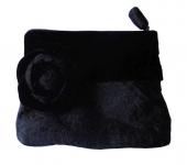 Velvet Brocade Purse Black