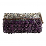 Coconut Shell Fair Trade Clutch Purse Purple