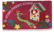 Coconut fibre doormat birdhouse home sweet home home