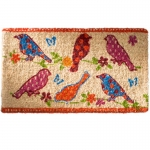 Coconut fibre doormat dotty birds