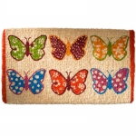 Coconut fibre doormat dotty butterflies