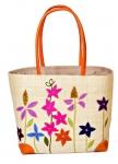Cottage Garden Raffia Straw Bag Fair Trade by Madaraff