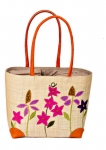 Cottage Garden Raffia Straw Bag Fair Trade by Madaraff