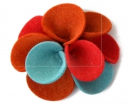 Dahlia Fair Trade Felt Flower Corsage Brooch