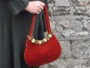 Decadence Velvet Pompom Fair Trade Handbag
