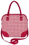 Earth Squared Dogtooth Grace Fair Trade Handbag Red