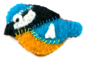 Feathered Friend Felt Bird Brooches
