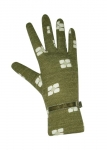 Flower print jersey green gloves by Earth Squared